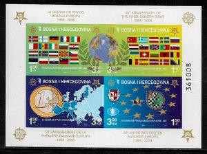 Bosniak #529e MNH IMP S/Sheet - Europa Stamps - 50th Anniversary (g)