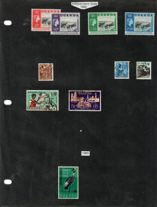 Uganda Selection of 24 Stamps MH/Used (SCV $11.60) Starting at 5%
