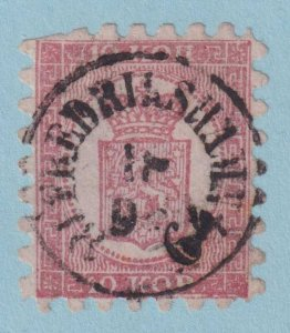 FINLAND 5  USED - GREAT CANCEL! - H. R. VOLIN CERTIFICATE - CLIPPED PERFS - L978