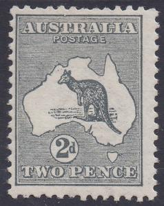 AUSTRALIA 1913 KANGAROO 2D 1ST WMK