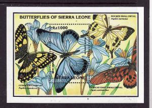 Sierra Leone-Sc#1641-sheet-unused-NH-Butterflies-Insects-African Giant Swallowta
