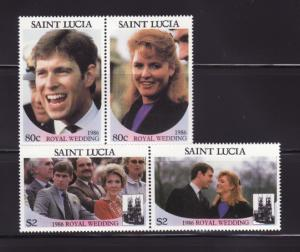 St Lucia 839-840 Set MNH Prince Andrew Wedding (A)