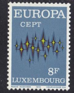 Luxembourg  MNH  1972  Europa  communications 8 F   #