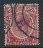 Straits Settlements George V  SG 200a Used Deep Claret