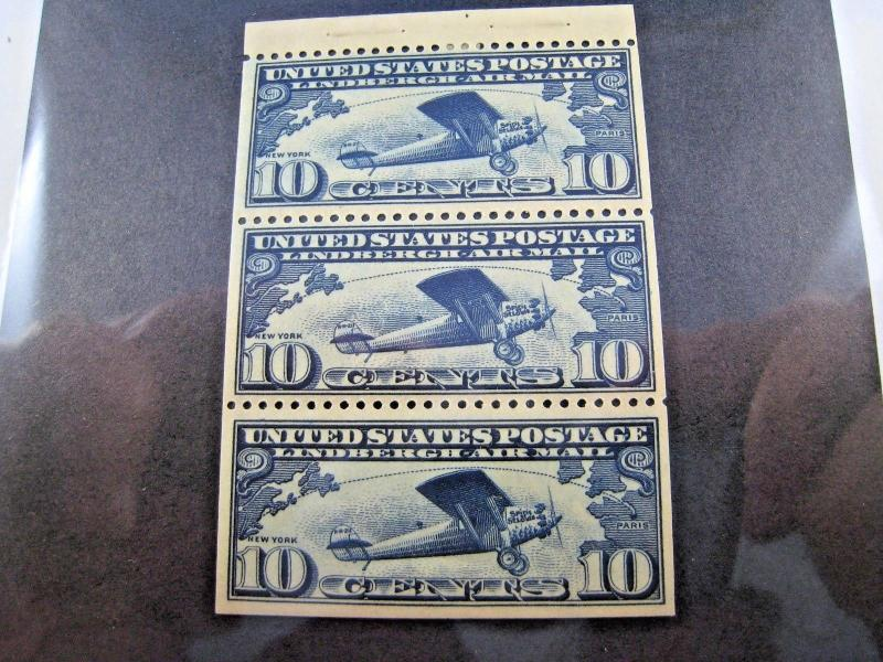 U.S. STAMPS FOR COLLECTORS - SCOTT #C10a - BOOKLET PANE   MLH    (kbc10)