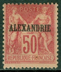 EDW1949SELL : FRANCE Offices in Egypt Alexandria Sc #12a Type I. VF MOG Cat $150