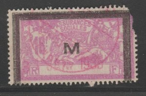France and Colonies revenue Fiscal stamp 11-9-20 as seen corner perf