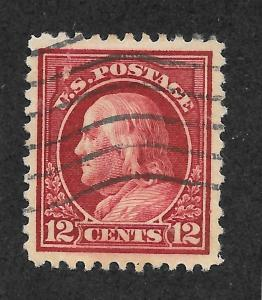 512a Used 12c. Franklin, XF-S, Brownish-Carmine, Free, Insured Shipping