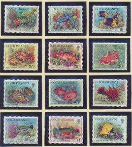 Cook Islands Stamp Scott #1058//1081, Mint Never Hinged, 12 Different, Short Set