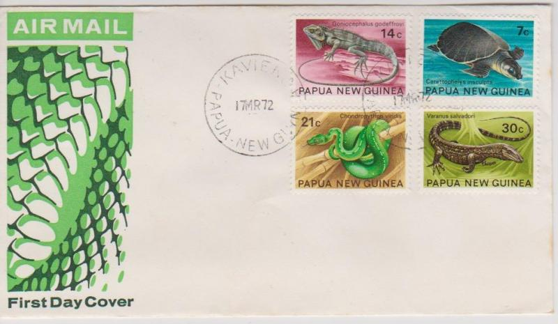 Papua New Guinea 1972 Wildlife Airmail First Day Cover