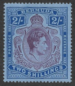 Doyle's_Stamps: MH 1950 VF-XF Bermuda KGVI 2 Shillings Scott  #123a*