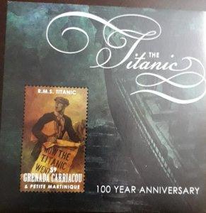 U) 2012, GRENADA, 100 ANNIVERSARY OF THE TITANIC, PERFORATED