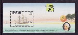 Kiribati-Sc#736-Unused NH sheet-Ships-HMS Resolution at Christmas Is.-1999-