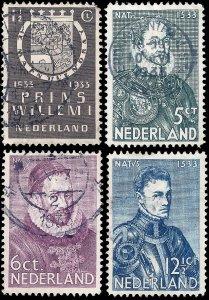 Netherlands 1933 Sc 196-99 U vf