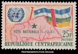 Central African Republic Scott C17 Mint never hinged.
