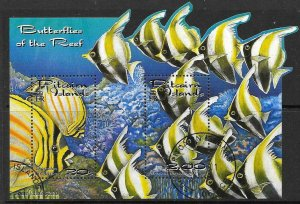 PITCAIRN ISLANDS SGMS604 2001 REEF FISH FINE USED
