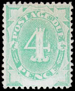 Australia Scott J5, perf. 12 (1902) Mint LH F-VF, CV $52.50 M