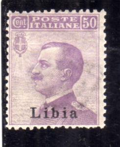 LIBIA 1912 - 1915 SOPRASTAMPATO D'ITALIA ITALY OVERPRINTED CENT. 50c MLH