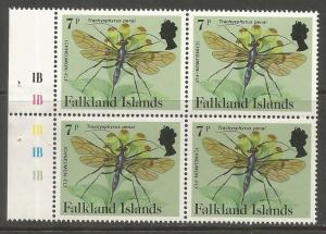 FALKLAND ISLANDS  393  MNH,  BOOKLET PANE, INSECTS, ICHNEUMON-FLY