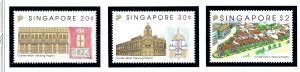 Singapore 650-52 MNH 1993 Preservation of Tanjong Pagar    (KA)