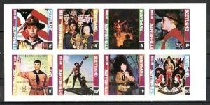 Eynhallow, 1999 issue. Scout Jamboree GOLD o/print on IMPERF Rockwell`s Art. *