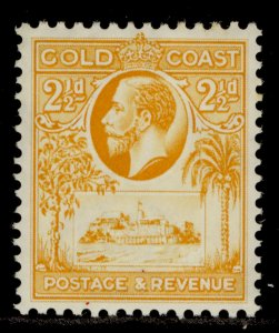 GOLD COAST GV SG107, 2½d orange-yellow, M MINT.