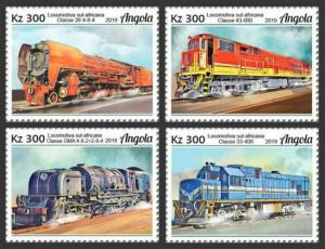 Z08 IMPERF ANG190101a ANGOLA 2019 African trains MNH ** Postfrisch