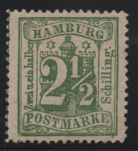 German States Hamburg Scott #23 XF Mint LH Stamp