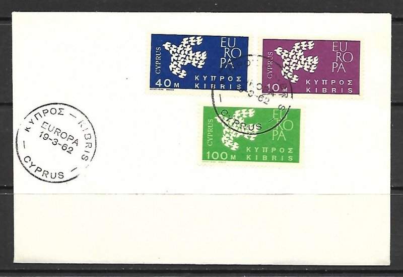 Cyprus #201-203 Europa Issue FDC