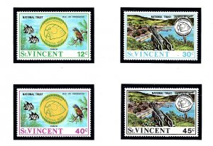 St Vincent 316-19  MNH 1971 National Trust     (KA)