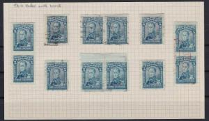 COLOMBIA 1917 PORTRAIT 5c BLUE STUDY  STAMPS  REF 5340