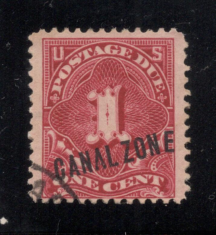 CZ#J1 Postage Due - Used - E in Overprint Out of Alignment