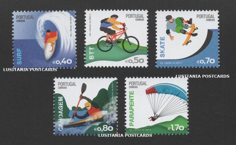 2014 PORTUGAL SPORTS SURF BIKE CYCLISME SKATE CANOEING BOAT PARAGLIDING BIKES
