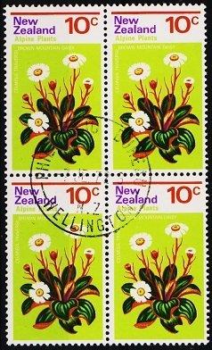 New Zealand. 1972 10c (Block of 4) S.G.986 Fine Used
