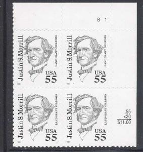 1995 RICHARD NIXON #2955 Plate Block of 4 x 32 cents US Postage Stamps