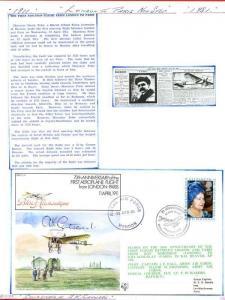 FF29c 1st Aeroplane flight from London - Paris Signed by A.K. Gatward