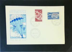 Yugoslavia 1951 Parachute Series First Day Cover - Z3121