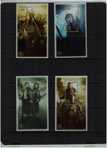 New Zealand: 2003, Lord of the Rings, Return of the King, MNH set of M/sheets