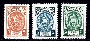 Guatemala C335-37 MNH 1966-67 Part set    (ap2274)