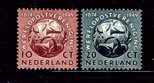 Netherlands 323-24 MNH 1949 UPU