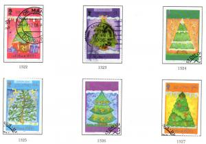 Isle of Man Sc 1172-7 2006 Christmas stamp set used