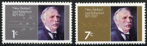 New Zealand Scott 487-88 Unused VFLHOG - Birth of Lord Rutherford - SCV $1.00