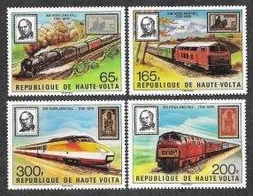 Burkina Faso (Upper Volta) #501-4 F-VF Mint NH ** Sir Rowland Hill