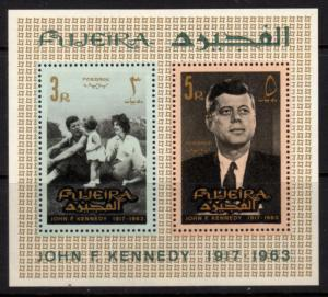 Fujeira  Sheet of 2 MNH John F. Kennedy (190)