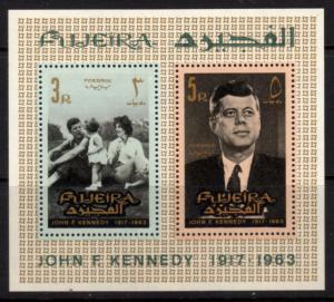 Fujeira  Sheet of 2 MNH John F. Kennedy (190)