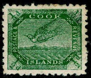 COOK ISLANDS SG23, ½d blue-green, M MINT.