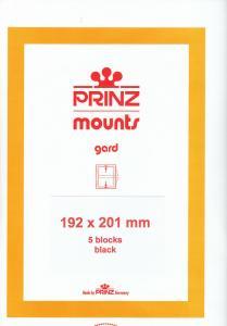 PRINZ BLACK MOUNTS 192X201 (5) RETAIL PRICE $10.50