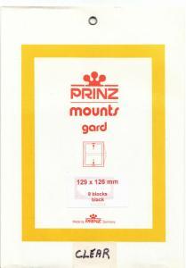 PRINZ CLEAR MOUNTS 129X126 (8) RETAIL PRICE $10.50