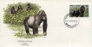 Sierra Leone, First Day Cover, Animals