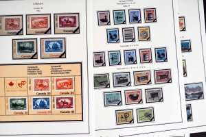COLOR PRINTED CANADA 1974-1988 STAMP ALBUM PAGES (51 illustrated pages)